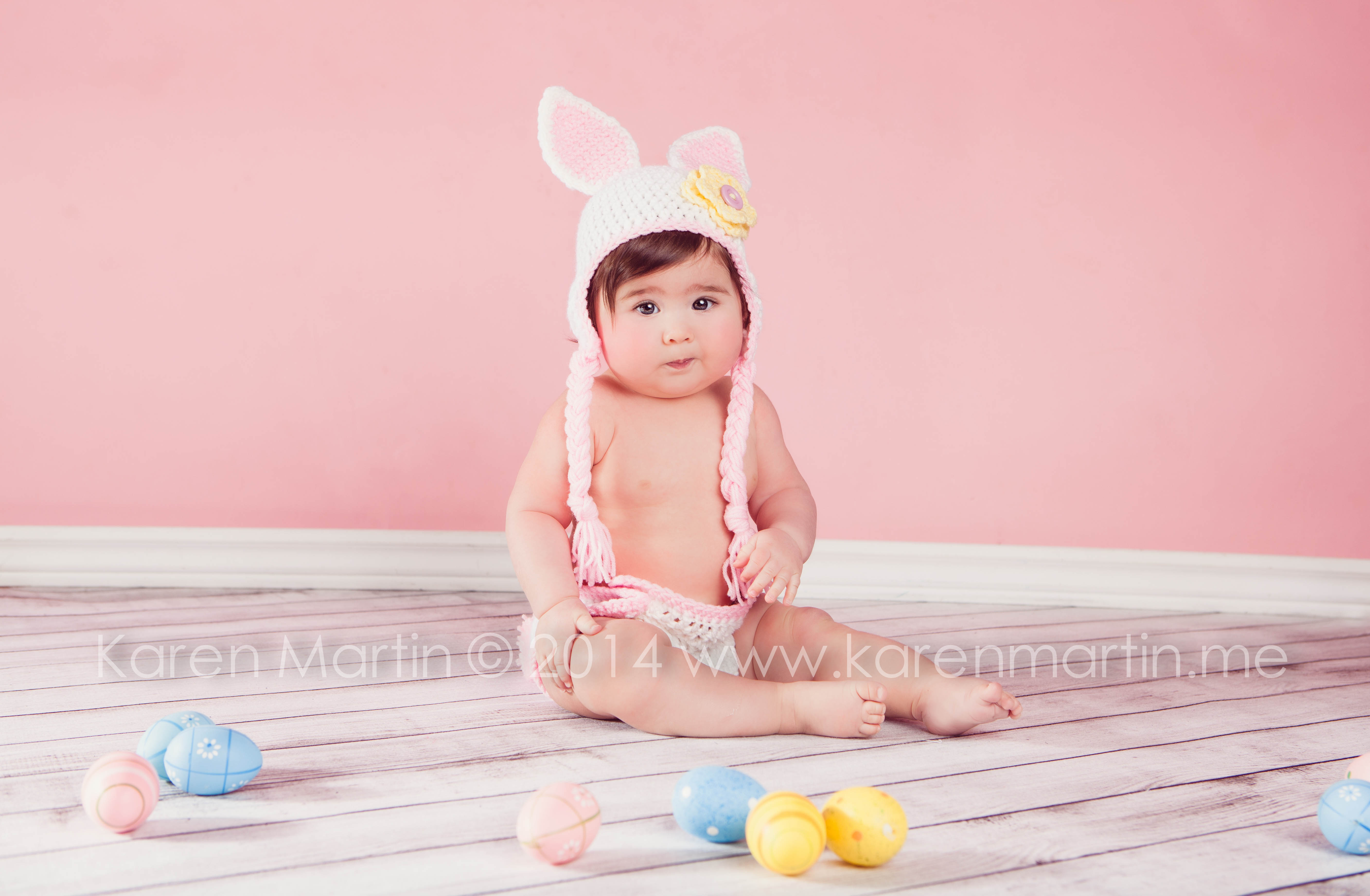 6 month old baby portrait | KarenMartin Photography